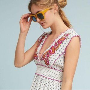 NWT Anthropologie Lilka Maggie Embroidered Dress